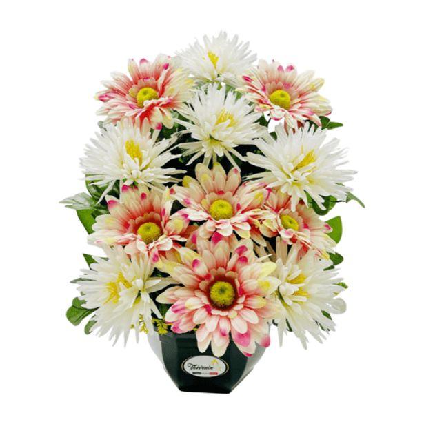 Composition de fleurs artificielles offre à 13,99€