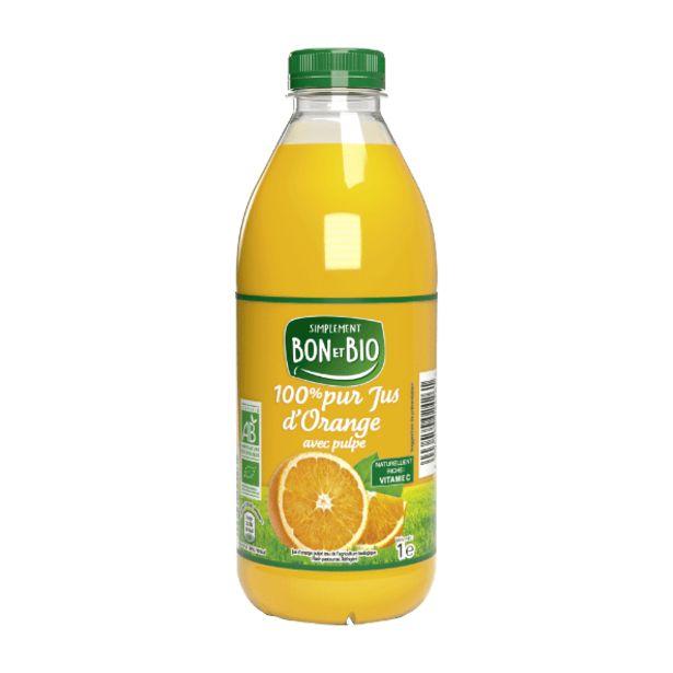 100% pur jus d'orange BIO offre à 2,39€