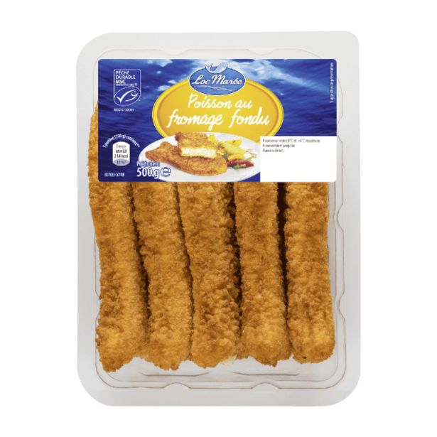 5 panés de poissons au fromage fondu offre à 2,59€