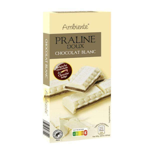 Chocolat fourré praliné offre à 1,79€