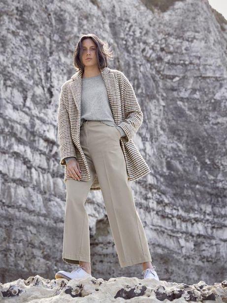 Manteau oeuf lainage carreaux femme offre à 159,2€