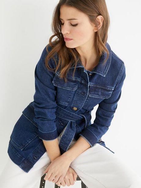 Veste saharienne en jean femme offre à 54€