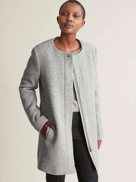 Manteau sans col lainage femme offre à 151,2€