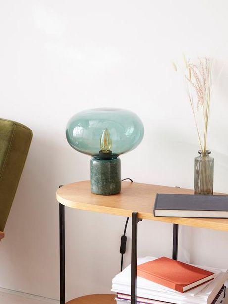 Lampe globe verre et marbre offre à 44,95€