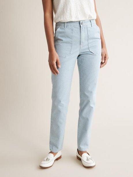Pantalon cargo rayé femme offre à 37,45€