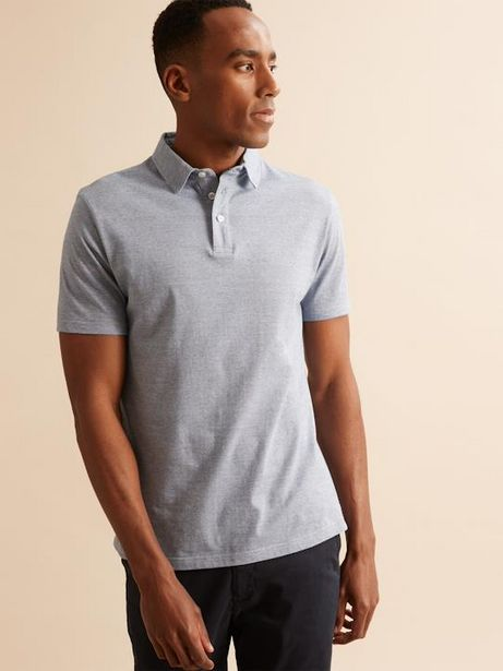 Polo maille jersey rayée homme offre à 18,45€