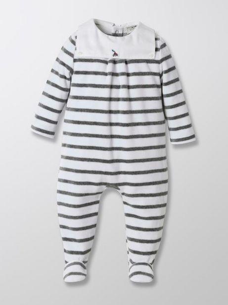 Dors-bien marin en velours bébé offre à 14,95€