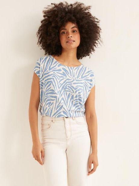 T-shirt imprimé femme lin et viscose offre à 19,95€