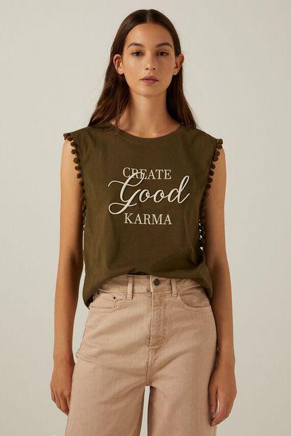 T-shirt « Create good karma » offre à 14,99€