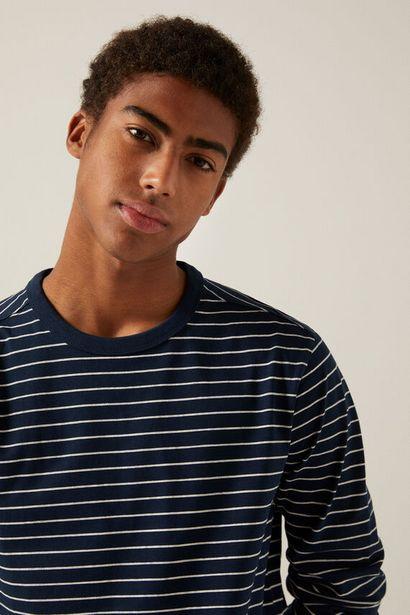 T-shirt rayures manches longues offre à 12,99€