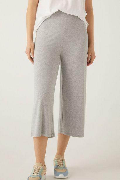 Pantalon culotte taille élastique offre à 19,99€