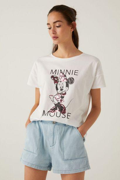 T-shirt « Minnie Mouse » paillettes coton biologique offre à 11,99€