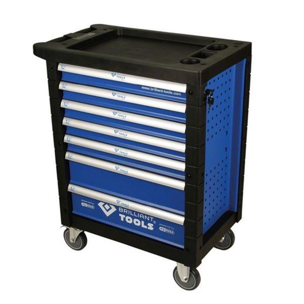 Servante 7 tiroirs, équipée 207 outils Brilliant Tools offre à 399€