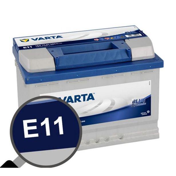 Batterie voiture Varta E11 - 74Ah / 680A - 12V offre à 139,9€