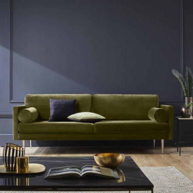 Canapé 3 places Jorel vert offre à 1499€