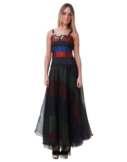 Robe longue multicolore offre à 8€