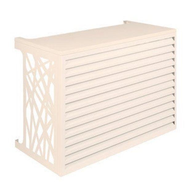 Cache climatiseur extérieur Aluminium Crème 90 x 70 cm - DEVAUX offre à 319€