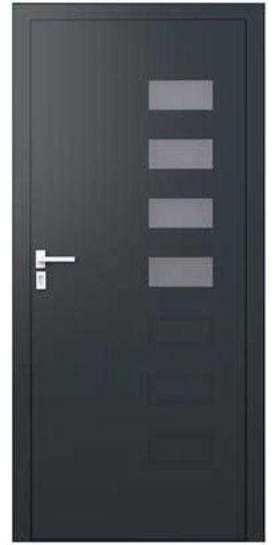 Porte d'entrée aluminium gris poussant gauche H.215 x l.90 cm Valencia plus offre à 1449€