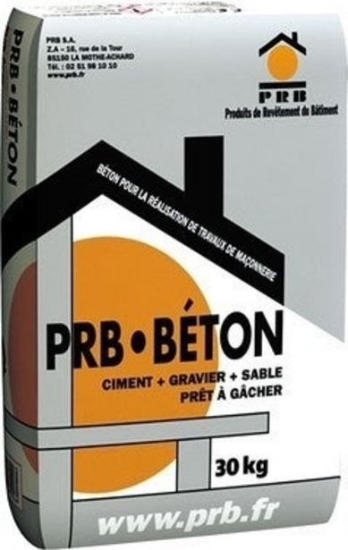 Béton courant 30 kg - PRB offre à 5,99€