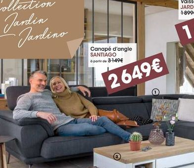 Canapé d'angle Santiago offre à 2649€