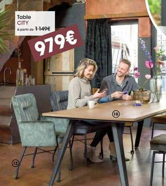 Table CITY offre à 979€