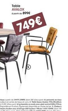 Table Avalox offre à 749€