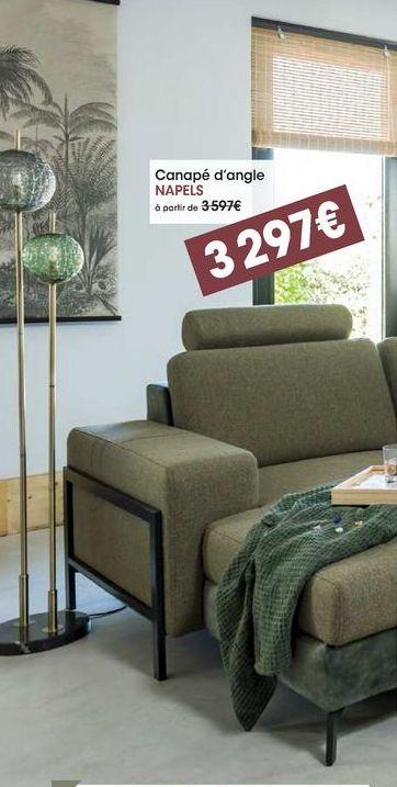 Canapé d'angle Napels offre à 3297€