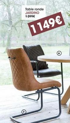 Table ronde jardino offre à 1149€