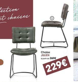 Chaise Julien offre à 229€