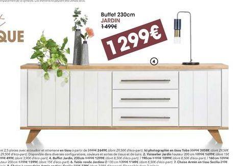 Buffet 230 cm Jardin  offre à 1299€