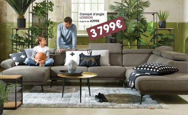 Canapé d'angle London  offre à 3799€