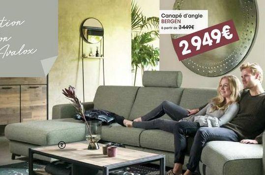 Canapé d'angle Bergen offre à 2949€