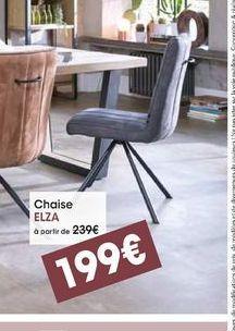 Chaise Elza offre à 199€
