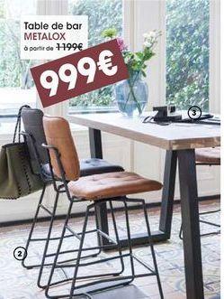 Table de bar Metalox offre à 999€