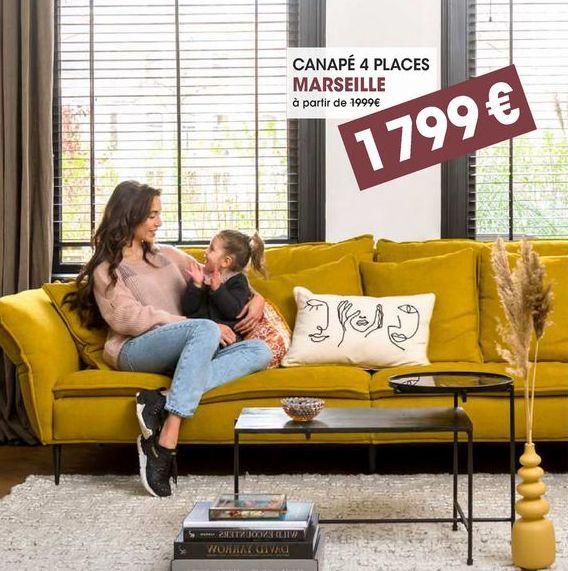 Canapé 4 places offre à 1799€