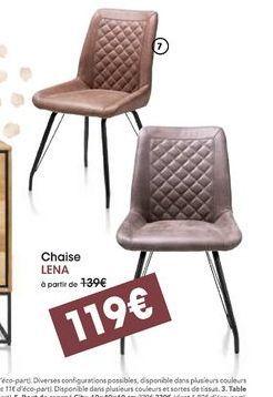 Chaise LENA offre à 119€