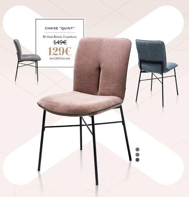 """Chaise """"Quint"""" offre à 129€"""