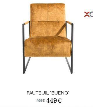 Fauteuil ·Bueno· offre à 449€