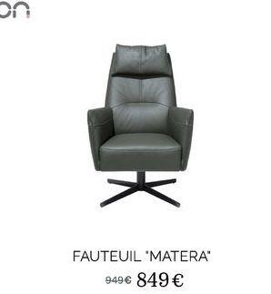 """Fauteuil ·Matera"""" offre à 849€"""