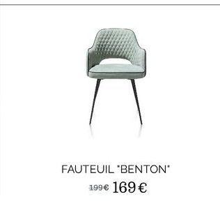 """Fauteuil """"Benton"""" offre à 169€"""