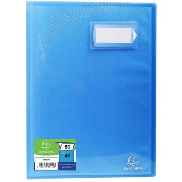 EXACOMPTA Porte-vues A4 80 vues Crystal bleu offre à 2,1€