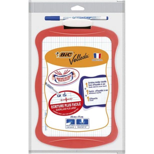 BIC Ardoise blanche 20x31cm + 1 feutre + 1 effaceur - Corail offre à 1,6€