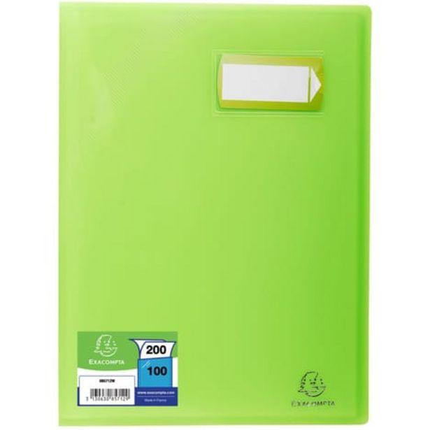 EXACOMPTA Porte-vues A4 200 vues Crystal vert offre à 4,2€