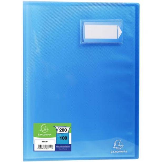 EXACOMPTA Porte-vues A4 200 vues Crystal bleu offre à 4,2€