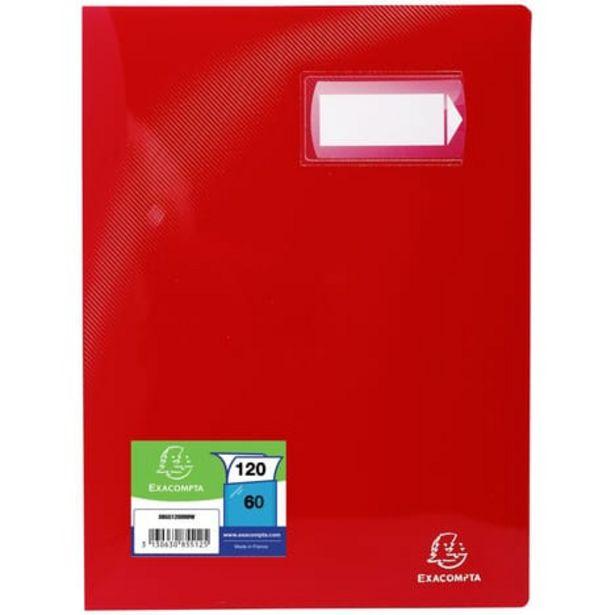EXACOMPTA Porte-vues A4 120 vues Crystal rouge offre à 2,8€