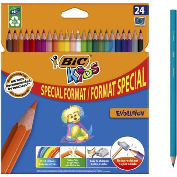 BIC Etui de 24 crayons de couleur Kids Evolution offre à 2,25€