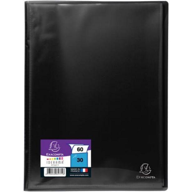 EXACOMPTA Porte-vues A4 60 vues noir offre à 1,8€