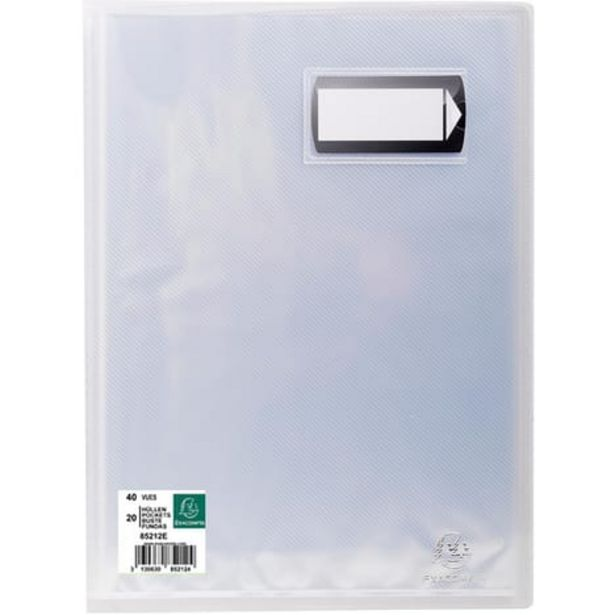 EXACOMPTA Porte-vues A4 40 vues Crystal blanc offre à 1,45€