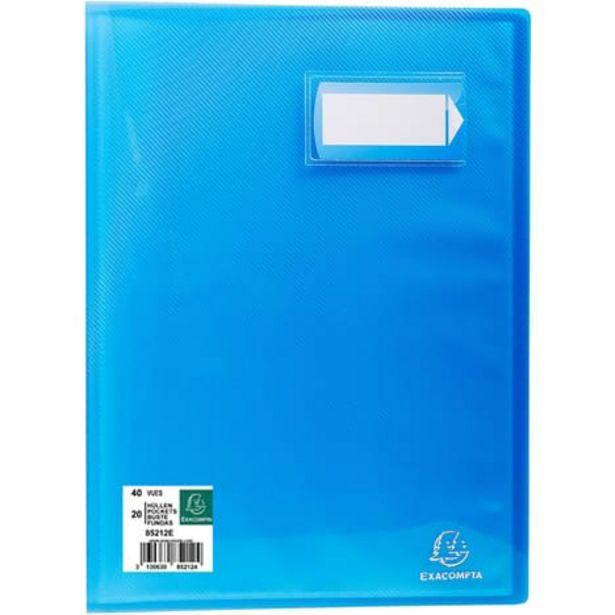 EXACOMPTA Porte-vues A4 40 vues Crystal bleu offre à 1,45€
