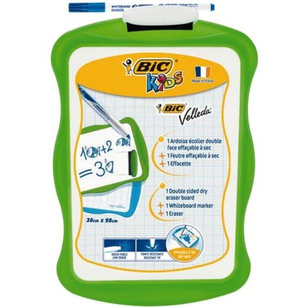 BIC Ardoise blanche 20x31cm + 1 feutre + 1 effacette vert offre à 1,6€